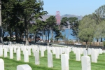 Presidio National Cemetery, sitting atop the Bay