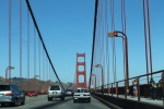 Driving over The Golden Gate