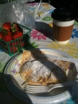 Oxbow Market-Nutella crepe, fresh-picked strawberries, coffee - yum!